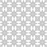 Repeating monochromatic curved star pattern. Repeating monochromatic abstract curved star pattern background Stock Images