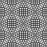 Repeating monochrome abstract cirlce grid pattern. Design stock illustration