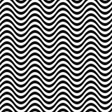 Repeating monochrome 3D wave line pattern Stock Photo