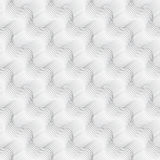 Repeating ornament diagonal wavy on white Royalty Free Stock Photos