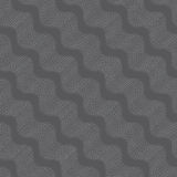 Repeating ornament dotted diagonal wavy dark gray Stock Photos