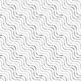 Repeating ornament of dotted wavy diagonal lines Royalty Free Stock Images