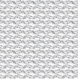 Repeating ornament dotted wavy lines horizontal on white Stock Image