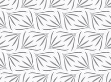Repeating ornament gray floral with turn Stock Images