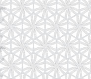 Repeating ornament gray hexagon net with lines Stock Photos