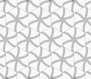Repeating ornament gray hexagons with lines Stock Image