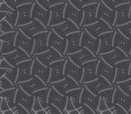 Repeating ornament gray and red lines forming hexagons Royalty Free Stock Photo