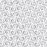Repeating ornament gray small rough shapes Stock Image