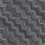 Repeating ornament gray and white diagonal wavy Stock Photo