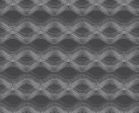 Repeating ornament horizontal wavy lines on gray Stock Photo