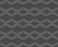 Repeating ornament horizontal wavy lines Stock Photo