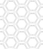 Repeating ornament many lines forming hexagons Royalty Free Stock Photo