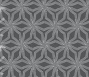 Repeating ornament stars with lines on gray Royalty Free Stock Photo