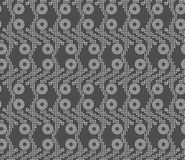 Repeating ornament vertical dotted stripes with double circles Stock Photography