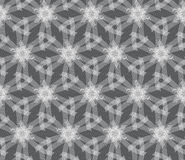 Repeating ornament white linear stars Stock Photos
