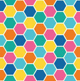 Repeating Pattern of Abstract Colorful Hexagon Vector Background Royalty Free Stock Photo