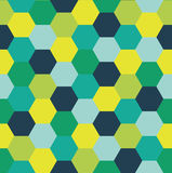 Repeating Pattern of Abstract Colorful Hexagon Vector Background Stock Photo