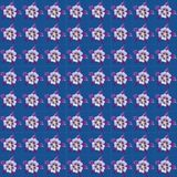 A repeating pattern of Aquilegia flower heads Royalty Free Stock Image