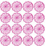 Repeating pattern of flowers. Repeating pattern of pink flowers Stock Photo