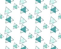 Repeating pattern of green triangles on white background vector illustration