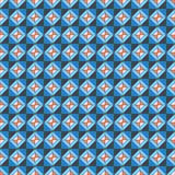 Repeating pattern orange blue Stock Images