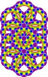 Repeating pattern in rainbow colors Stock Image