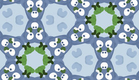 Repeating Pattern of White Circles in Honeycomb Royalty Free Stock Photos