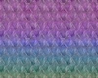 Repeating Playful Mermaid Fish Scale Pattern Stock Image