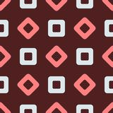 Repeating rhombuses and squares. Simple geometric seamless pattern. Vector illustration royalty free illustration