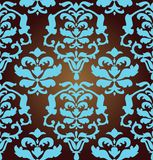Repeating seamless background. In baroque style Stock Photo