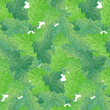 Repeating seamless pattern oak leaves royalty free illustration