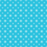 Repeating Snowflake Pattern Stock Photography