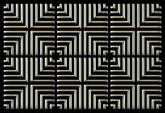 Repeating square background silver on black Royalty Free Stock Images