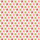 Repeating stars with round angles,  seamless pattern. Royalty Free Stock Image
