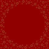 Repeating stars silhouette pattern on the red background Royalty Free Stock Photos