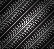 Repeating tire tracks Stock Photography