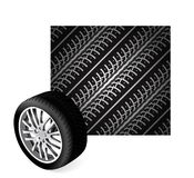 Repeating tire tracks Royalty Free Stock Photo