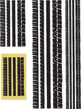 Repeating tyre Track Royalty Free Stock Images