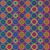 Repeating Vintage Pattern. Circle patter with fresh colours Stock Photos