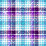 Repeating violet-white grunge checkered pattern Royalty Free Stock Photos