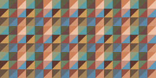 Repeating wallpaper background in triangle and square stripes or rows Stock Photography