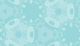 Repeating Wallpaper Pattern in Blue Shapes Royalty Free Stock Photo