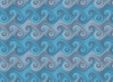 Repeating waves pattern. wallpaper texture Royalty Free Stock Images