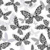 Repeating white-black pattern Royalty Free Stock Photos