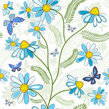 Repeating white floral pattern Royalty Free Stock Photo