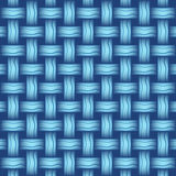 Repeating wicker weave style background blue,  format Stock Image