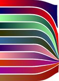 Repel Colorful strips white background shaded strips vivid vector illustration wallpaper. Many uses for advertising, book page, paintings, printing, mobile stock illustration
