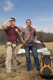 Repellers bij het kampeerterrein Stock Foto