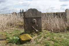 Repentance cemetery. One of the local historian sites is that of kinmount where hoddom castle and repentance tower can be located in the south west of scotland Royalty Free Stock Photos