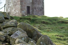 Repentance tower. One of the local historian sites is that of kinmount where hoddom castle and repentance tower can be located in the south west of scotland Royalty Free Stock Image